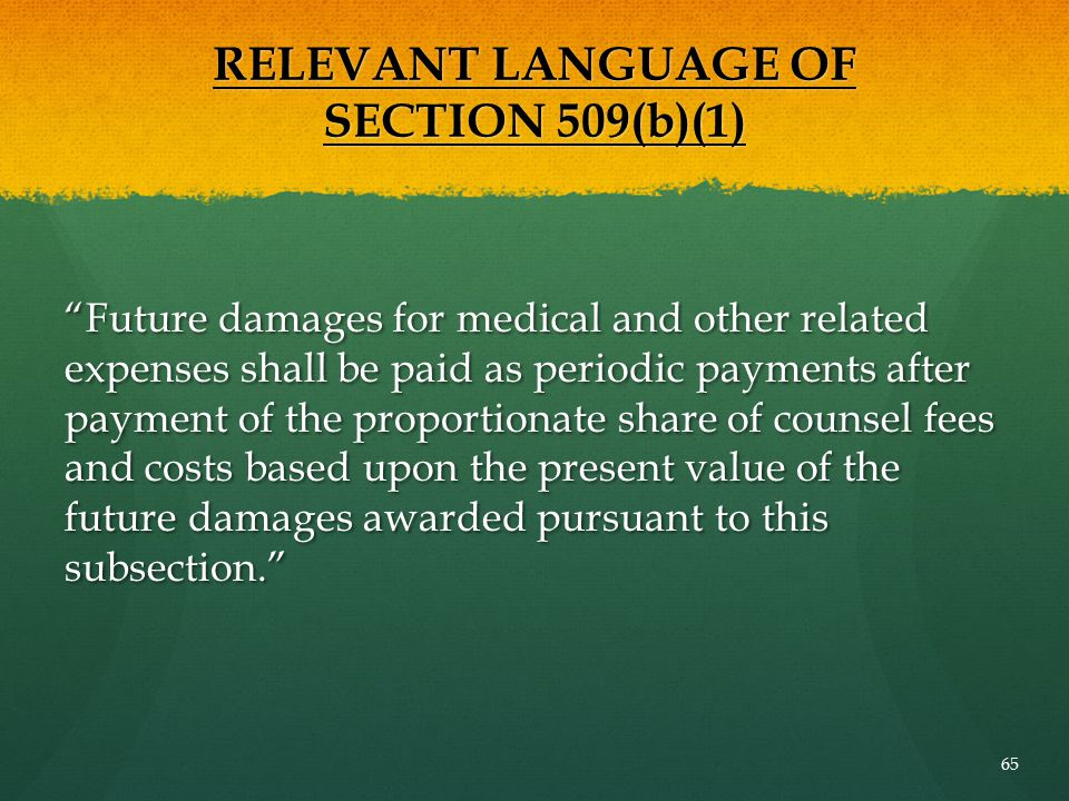 RELEVANT LANGUAGE OF SECTION 509(b)(1)