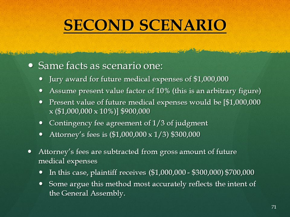 SECOND SCENARIO Same facts as scenario one: