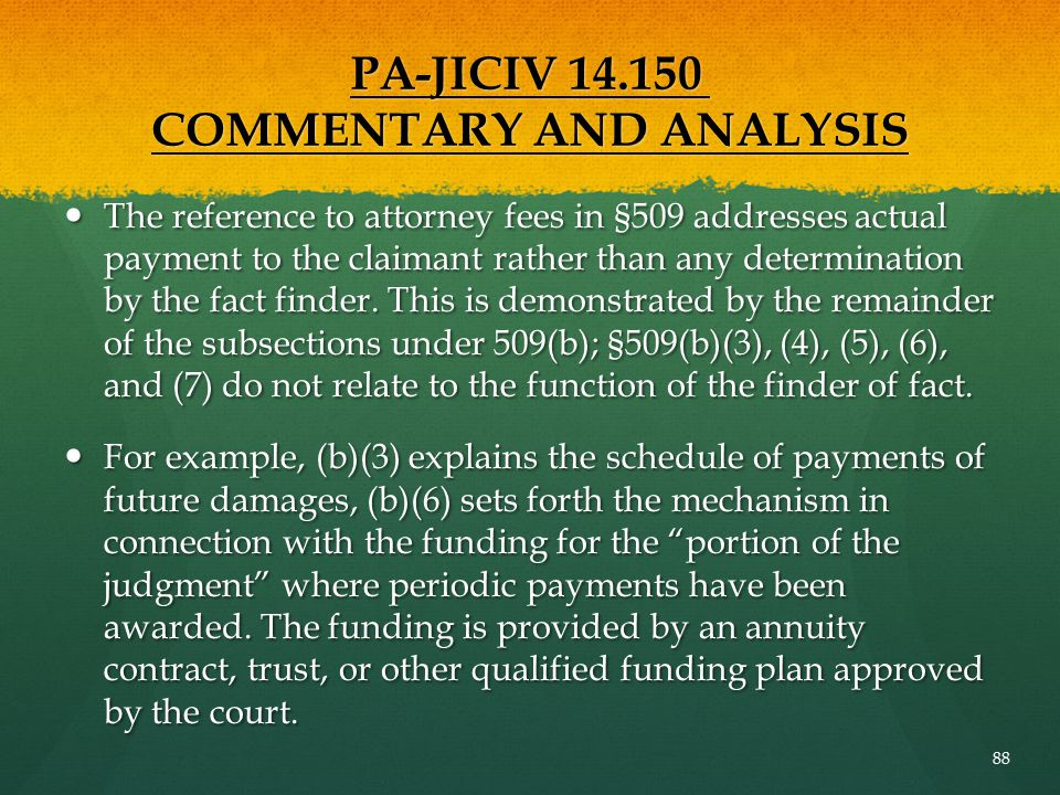 PA-JICIV 14.150 COMMENTARY AND ANALYSIS