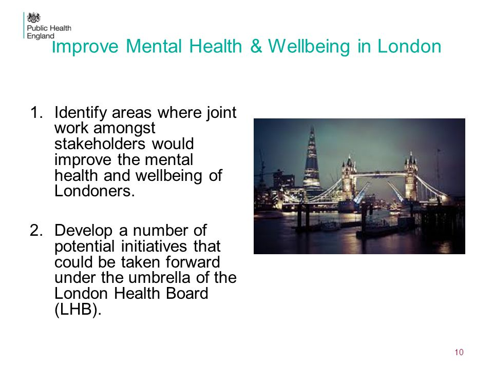 Improve Mental Health & Wellbeing in London