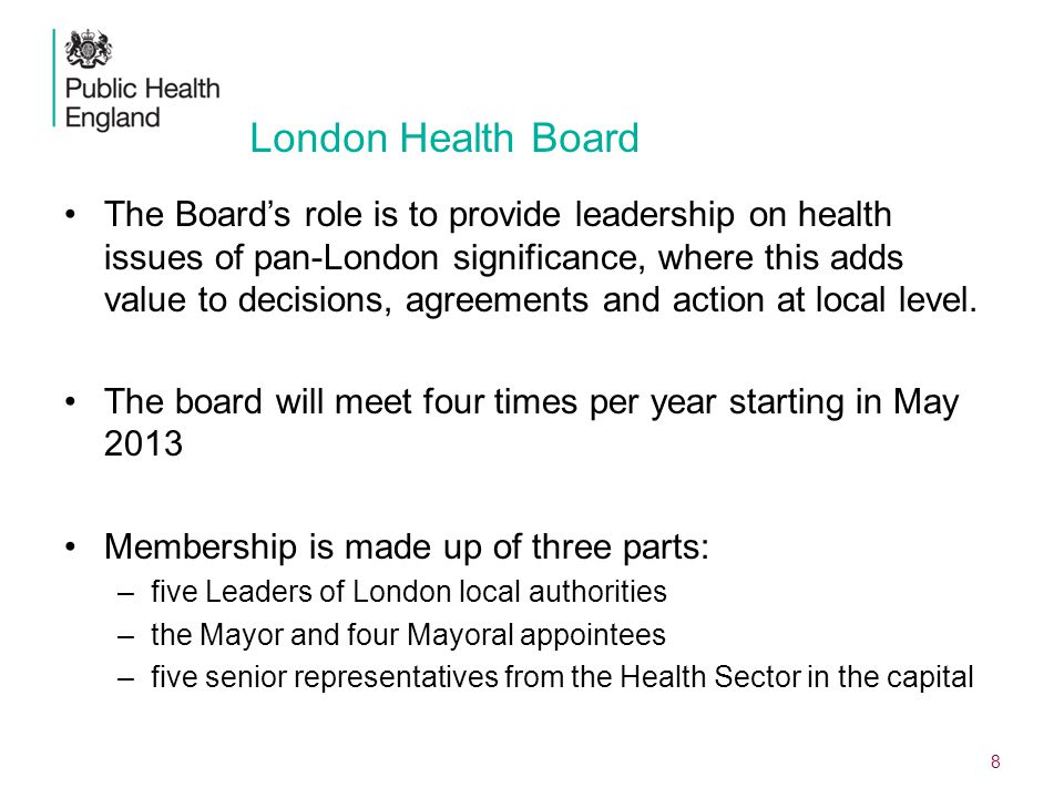 DRAFT, IN PREPARATION London Health Board.