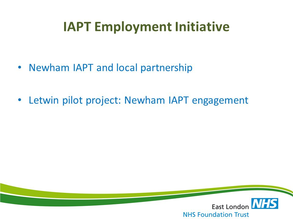 IAPT Employment Initiative