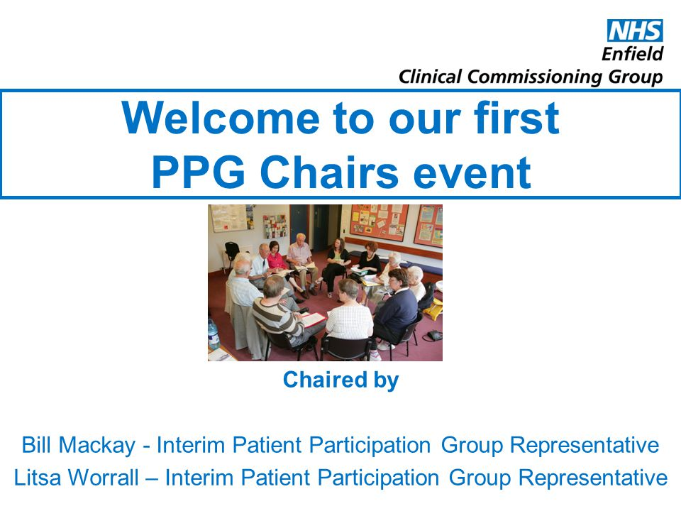 Welcome to our first PPG Chairs event