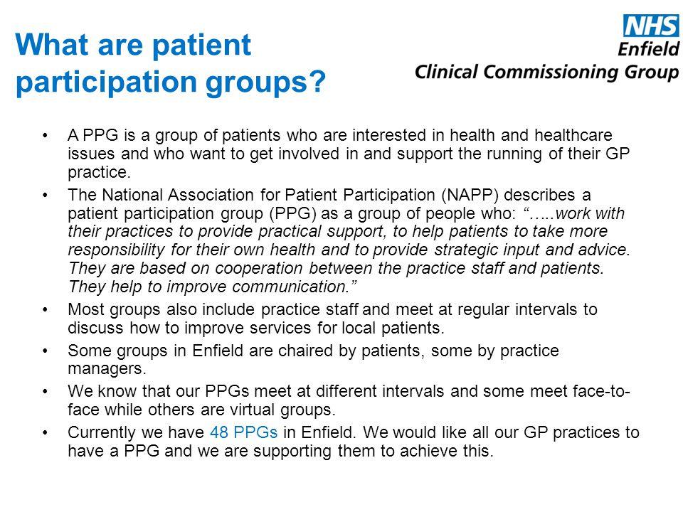 What are patient participation groups