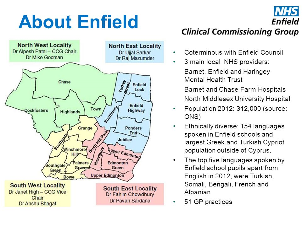About Enfield Coterminous with Enfield Council