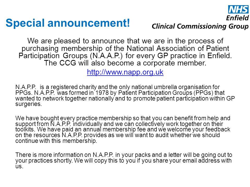 Special announcement!