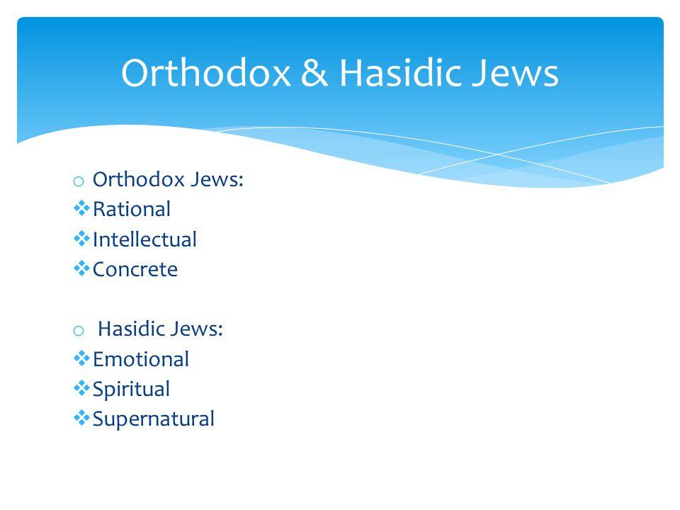 Orthodox & Hasidic Jews