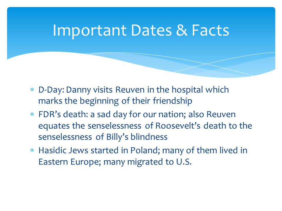 Important Dates & Facts