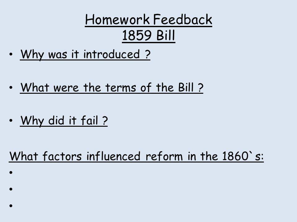 Homework Feedback 1859 Bill