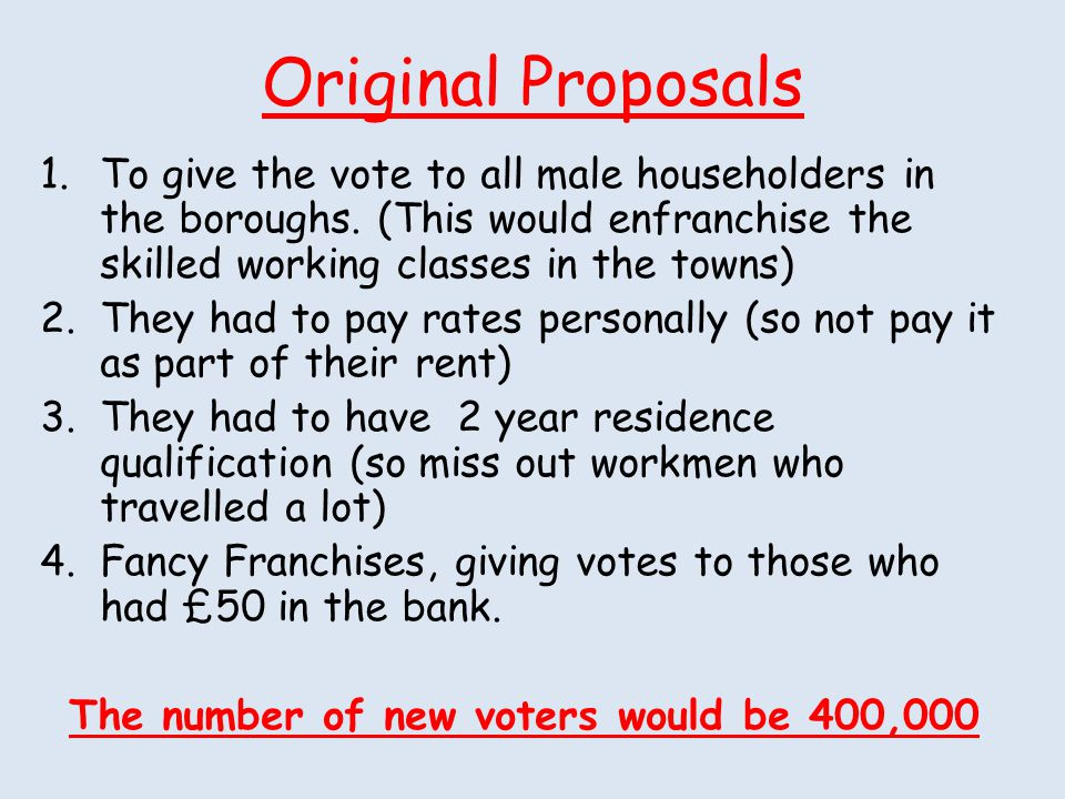 The number of new voters would be 400,000