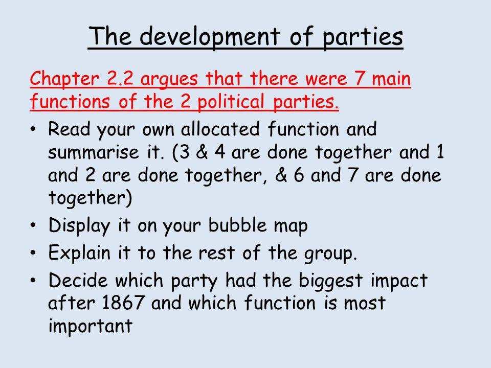 The development of parties