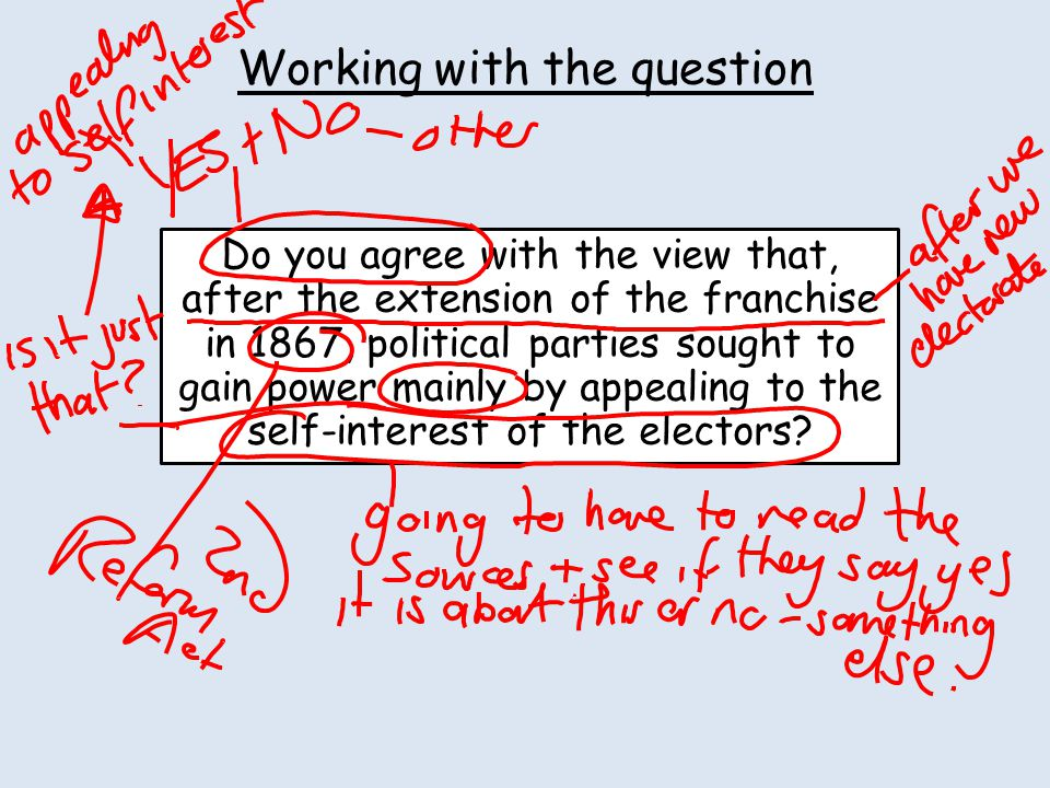 Working with the question