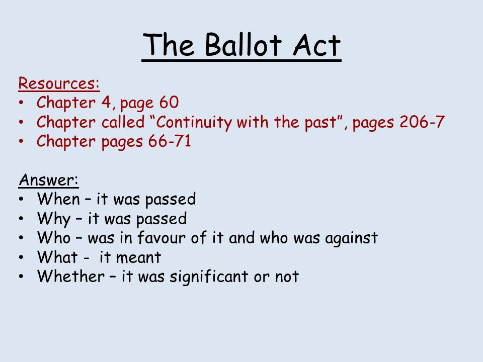 The Ballot Act Resources: Chapter 4, page 60