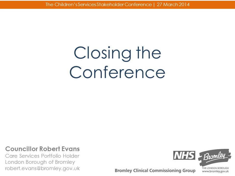 Closing the Conference