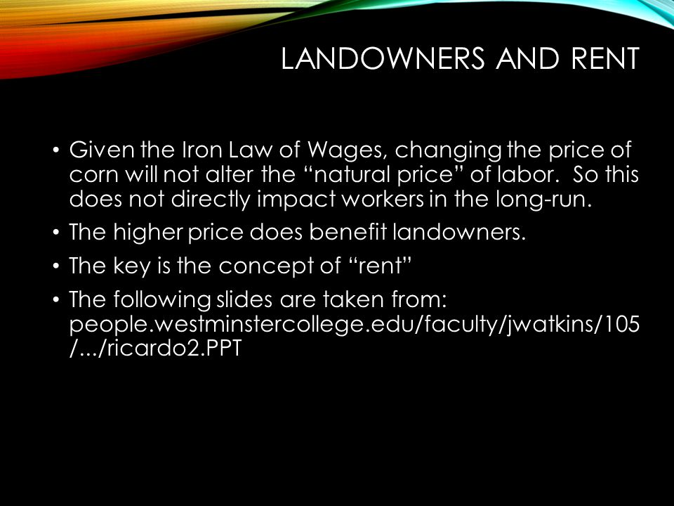 Landowners and Rent