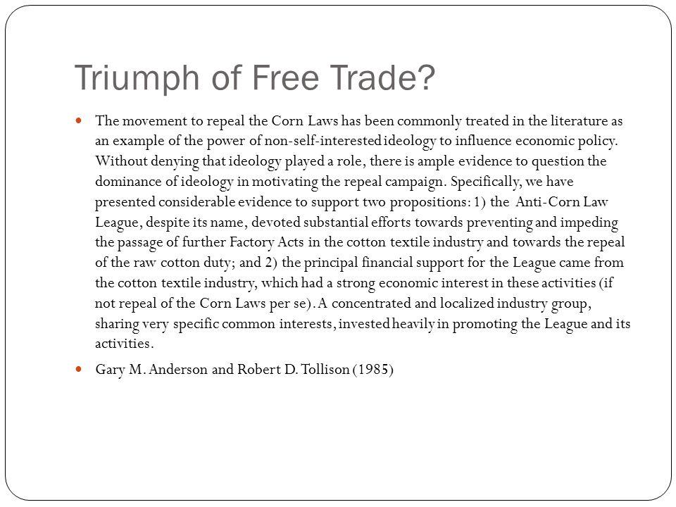 Triumph of Free Trade