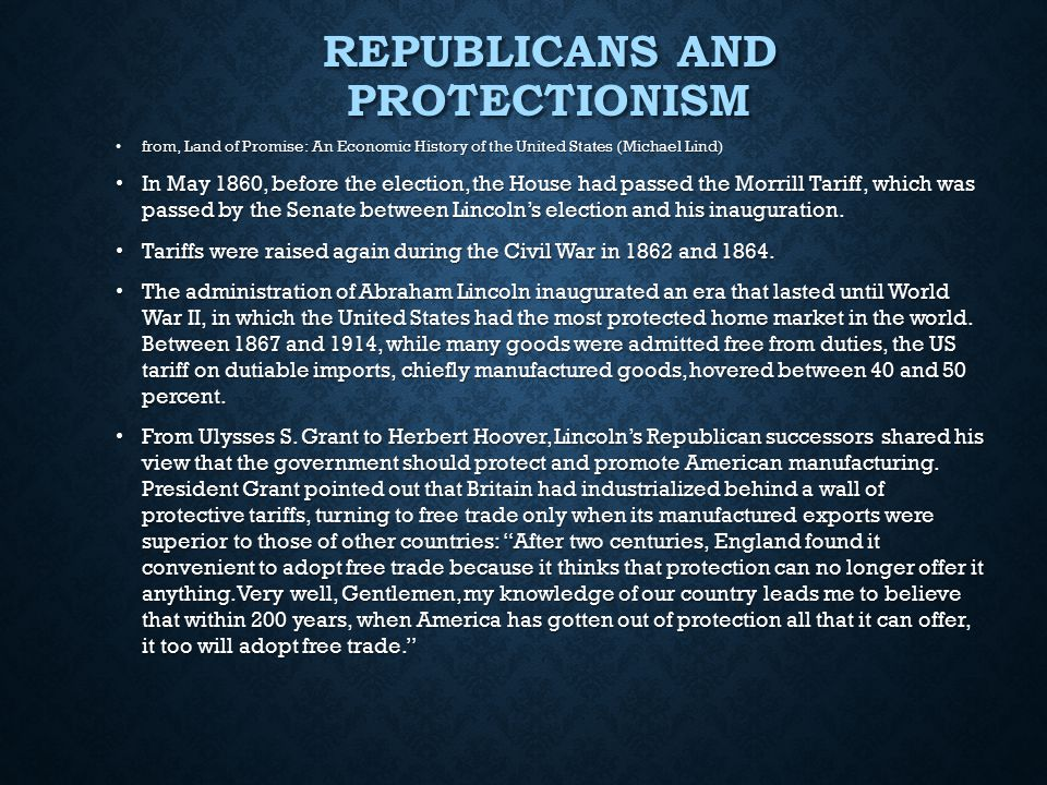 Republicans and Protectionism