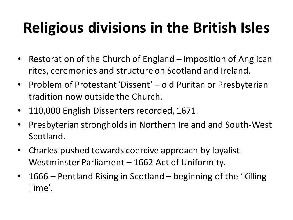 Religious divisions in the British Isles