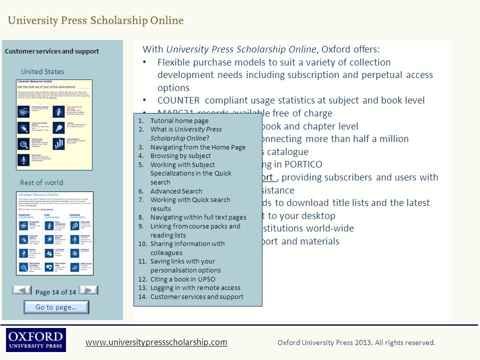 With University Press Scholarship Online, Oxford offers: