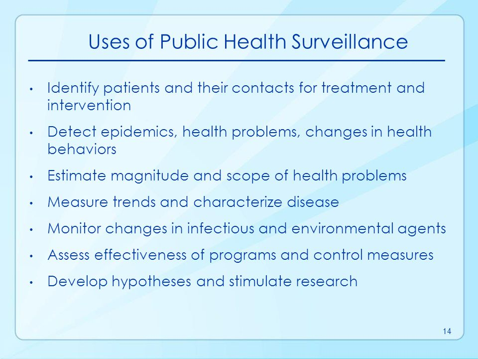 Uses of Public Health Surveillance
