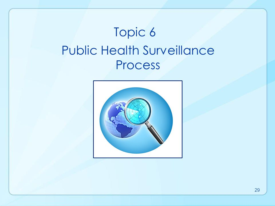 Public Health Surveillance Process