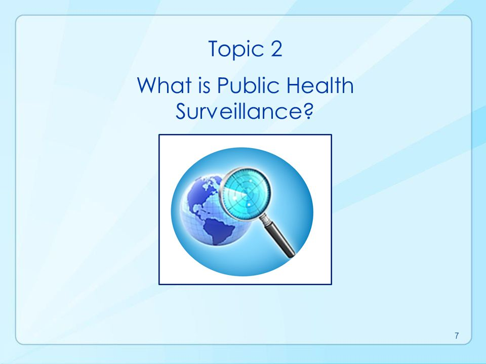 What is Public Health Surveillance