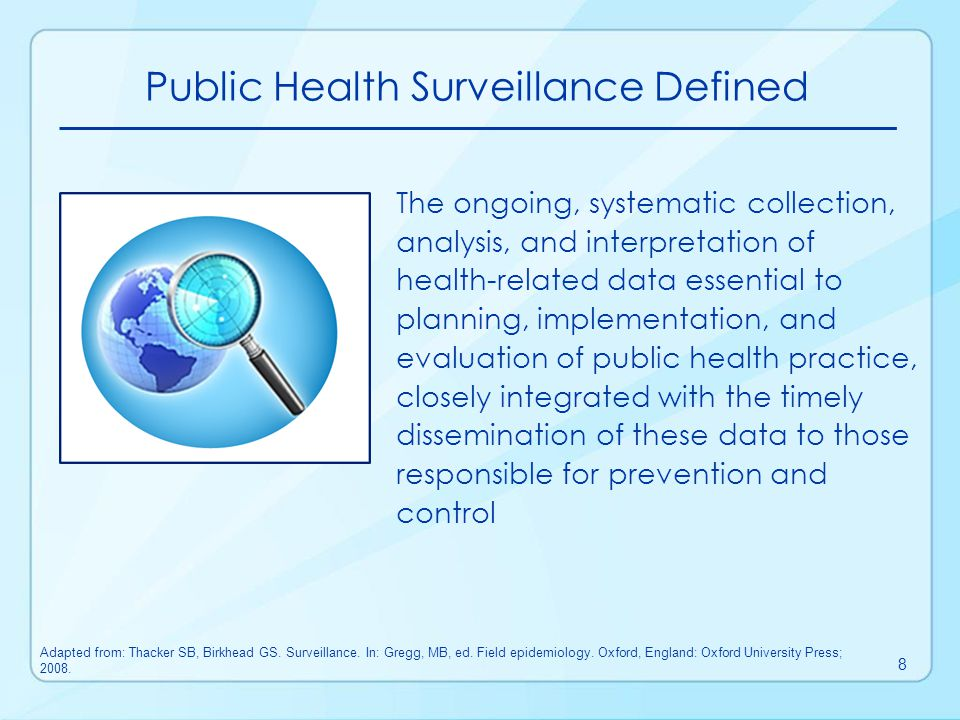 Public Health Surveillance Defined