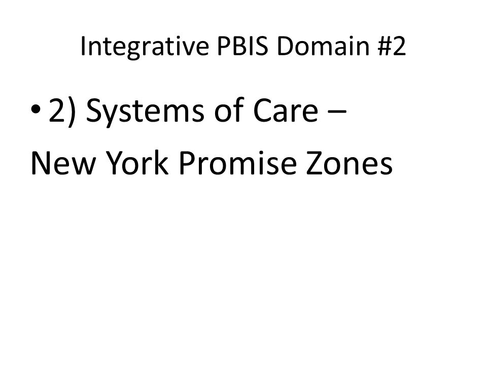 Integrative PBIS Domain #2