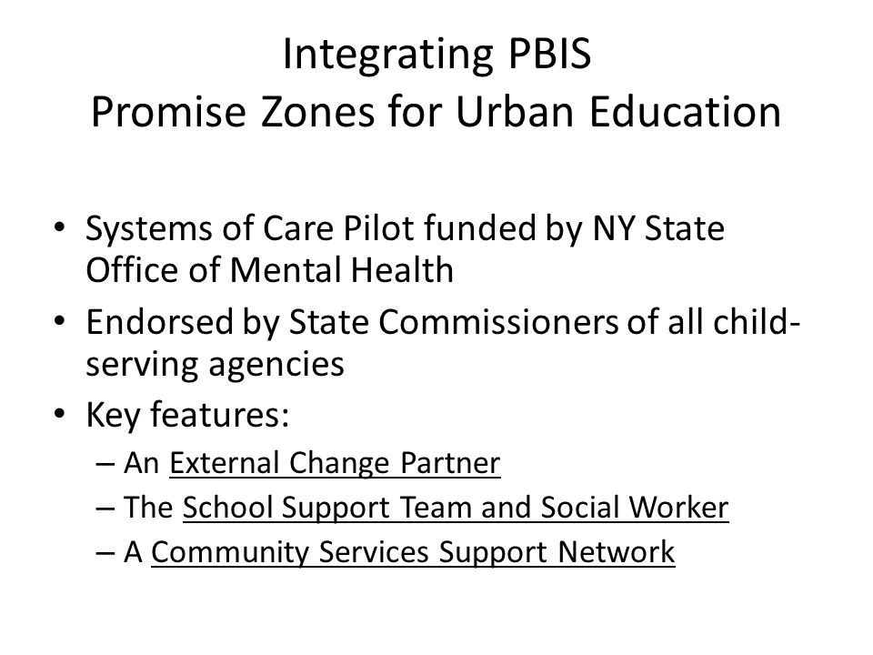 Integrating PBIS Promise Zones for Urban Education