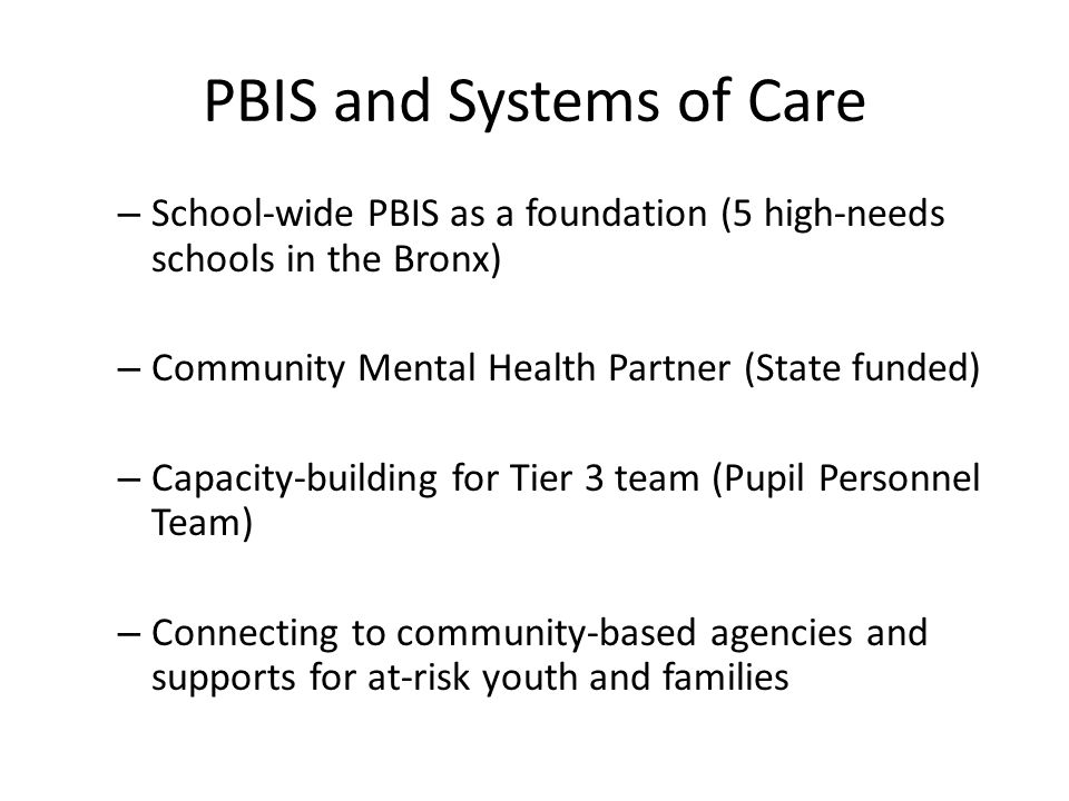 PBIS and Systems of Care