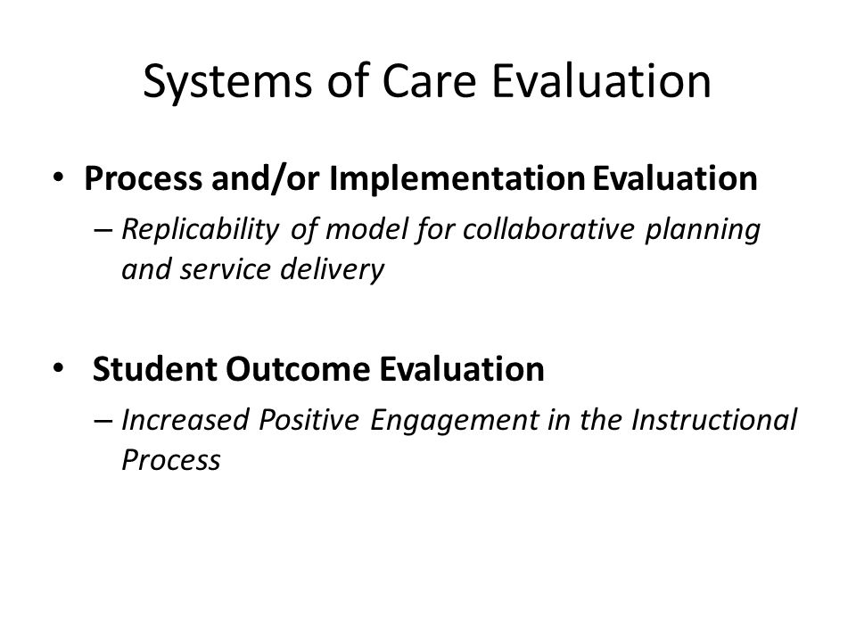 Systems of Care Evaluation