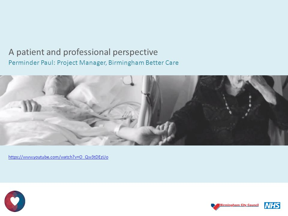 A patient and professional perspective