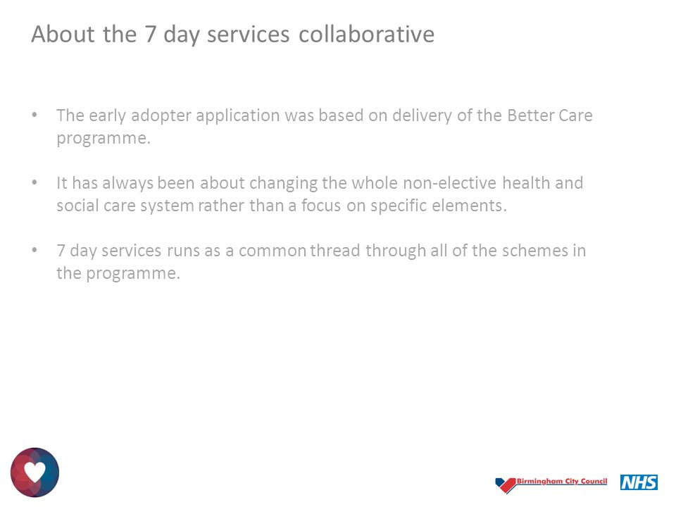 About the 7 day services collaborative