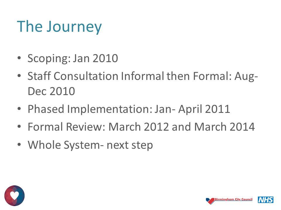 The Journey Scoping: Jan 2010