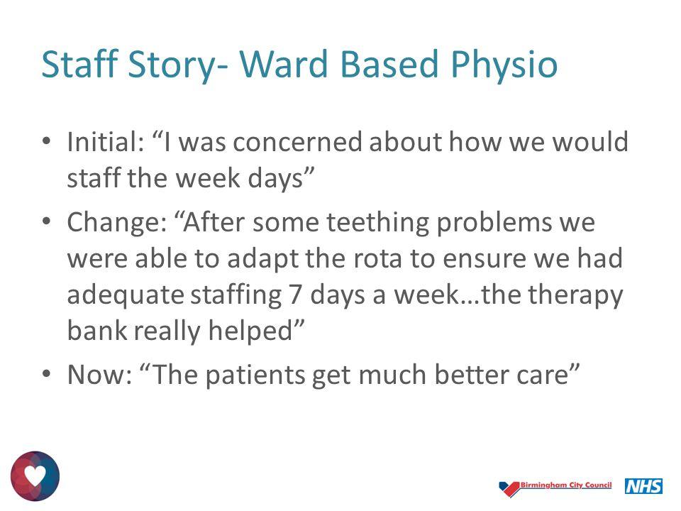 Staff Story- Ward Based Physio