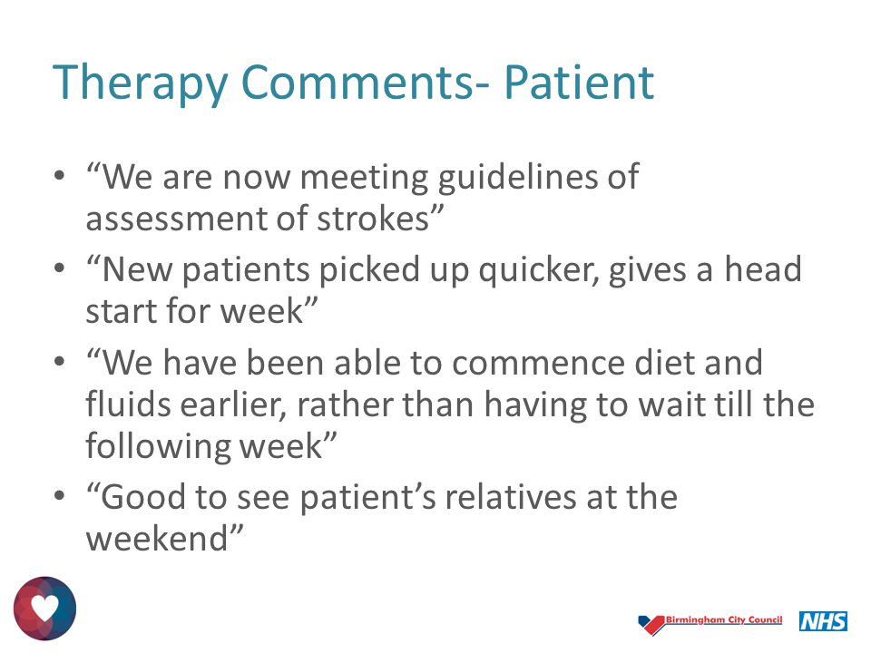 Therapy Comments- Patient