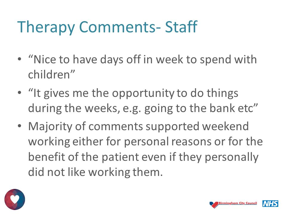 Therapy Comments- Staff