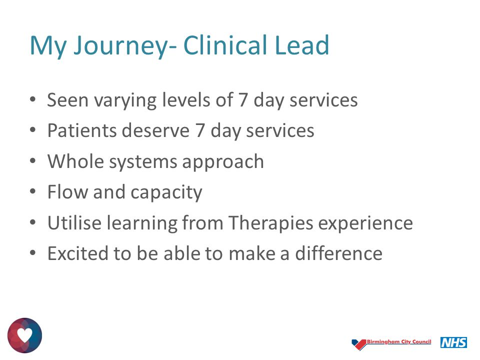 My Journey- Clinical Lead