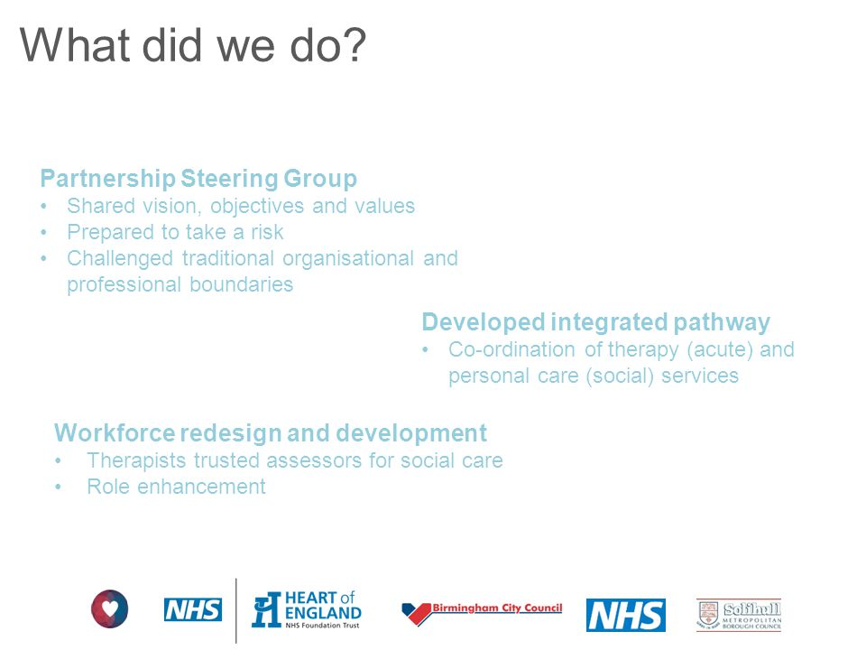 What did we do Partnership Steering Group