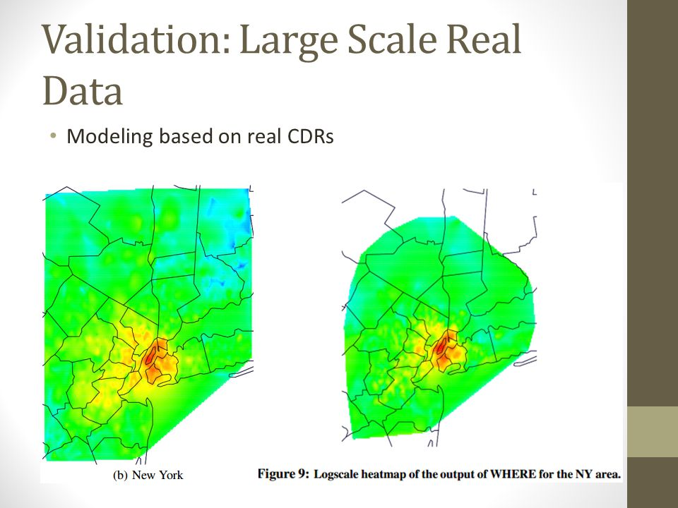 Validation: Large Scale Real Data