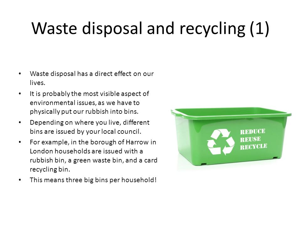 Waste disposal and recycling (1)