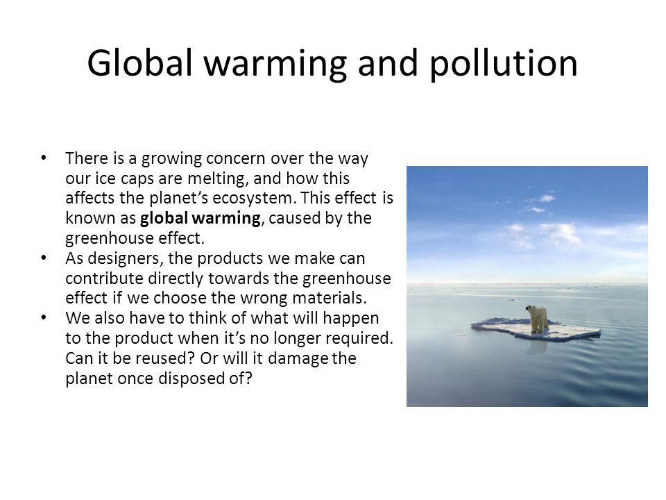 Global warming and pollution