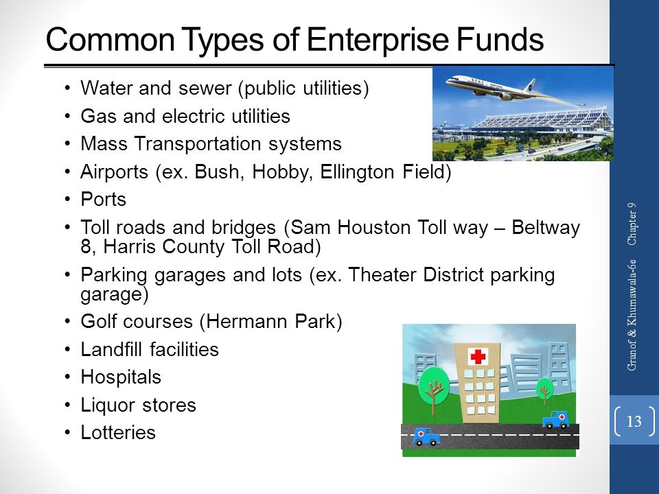 Common Types of Enterprise Funds