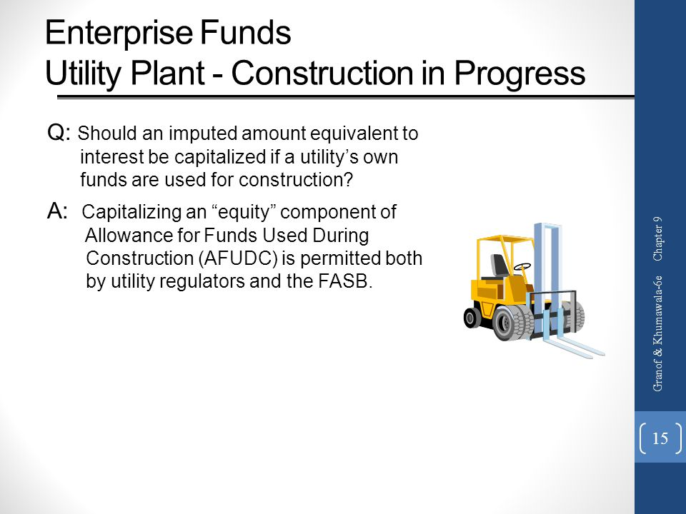 Enterprise Funds Utility Plant - Construction in Progress