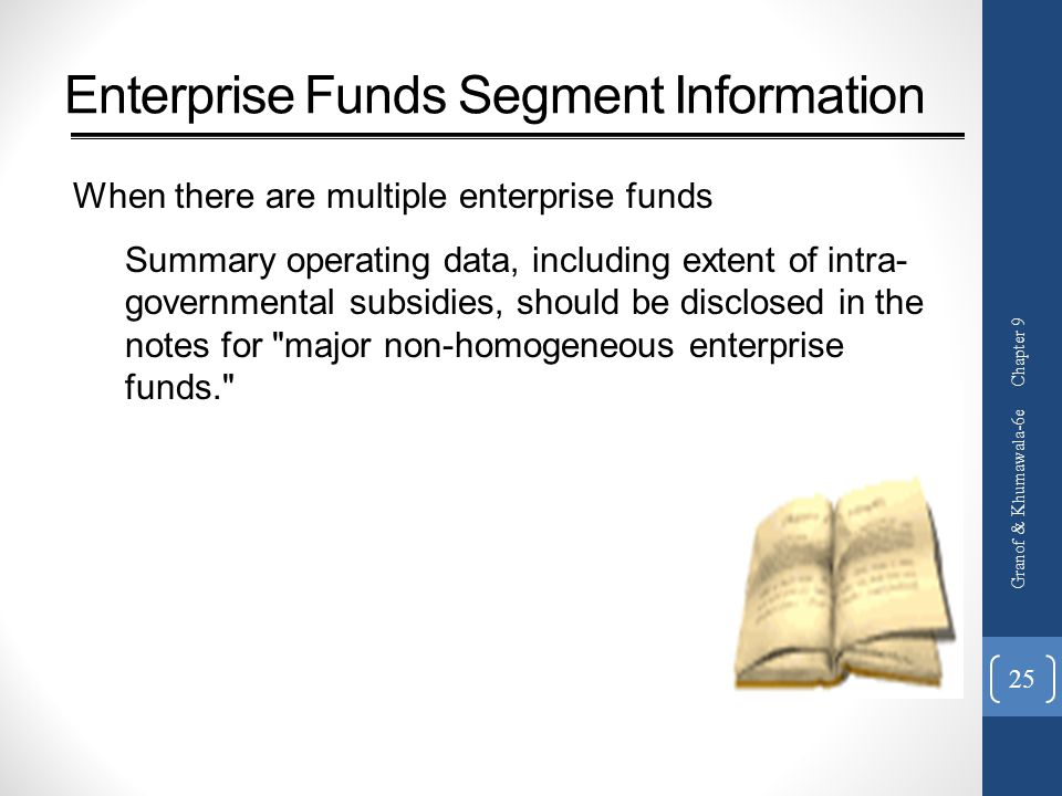 Enterprise Funds Segment Information