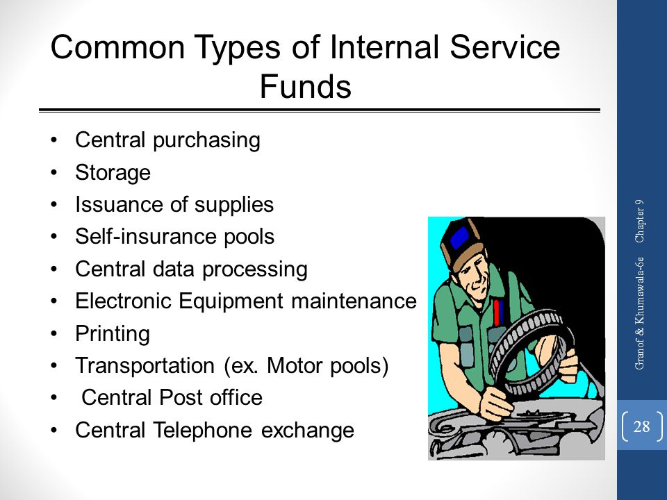 Common Types of Internal Service Funds