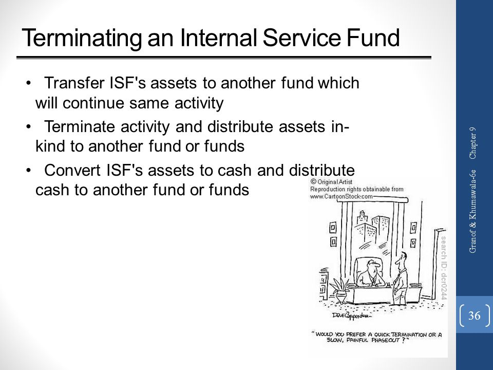 Terminating an Internal Service Fund