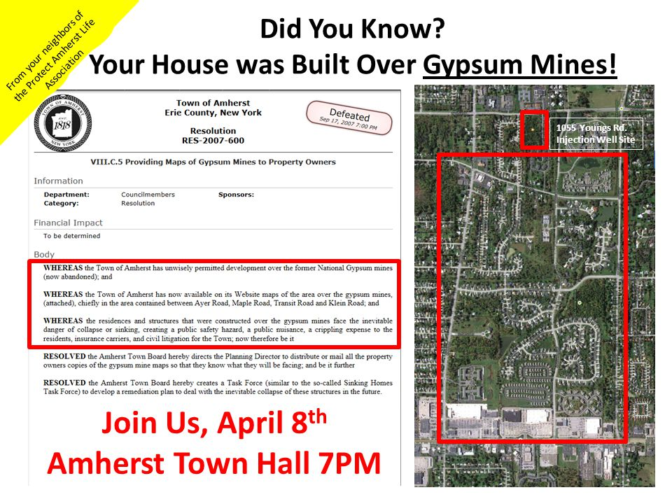 Did You Know Your House was Built Over Gypsum Mines!