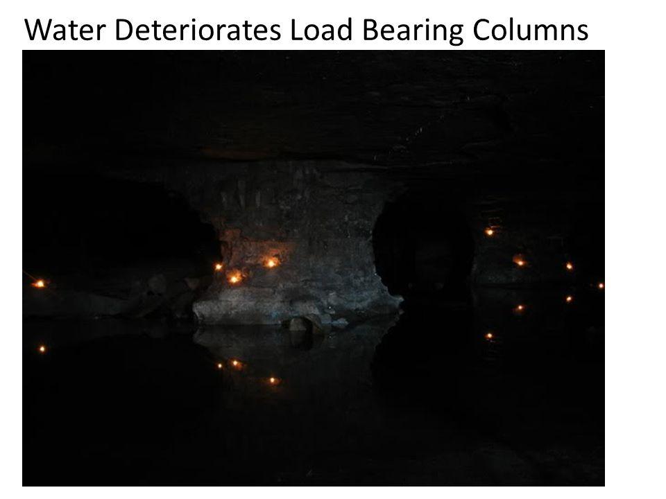 Water Deteriorates Load Bearing Columns