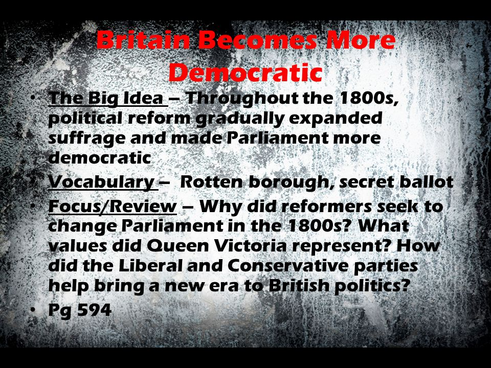 Britain Becomes More Democratic